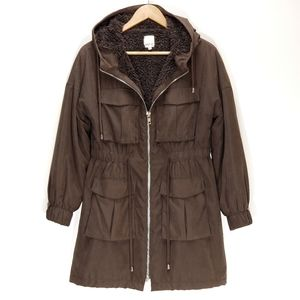 MPC | MINKPINK Sherpa Lined Hooded Utility Jacket